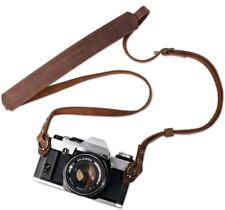 TARION Genuine Leather Camera Strap Vintage DSLR Camera Neck Strap Belt Film Cam