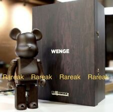 Medicom Plus Be@rbrick 2017 Karimoku Wooden 400% Wenge Wood bearbrick 1pc