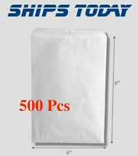 500pcs 6x9 White Flat Paper Bags Jewelry Gift Bag 6 X 9 Retail Supply Wholesale