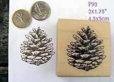 P93 Pine-Cone rubber stamp wm