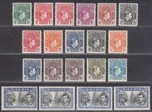 Nigeria 1938-51 King George VI Set to 2sh6d Mint SG49-58b