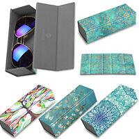 Foldable Hard Eyeglasses Protective Case Sunglasses Glasses Eyewear Storage Box