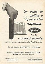 W7825 Apparecchio Fotografico VOIGTLANDER Perkeo - Pubblicità del 1929 - Old ad