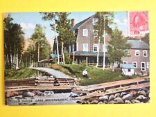 cpa Cachet LACHINE LOCKS en 1916 CLUB HOUSE, Lake Macannamac CANADA PQ
