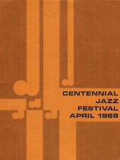 Jazz Festival Program 1968 Davis, Monk, McRae, Montgomery, Evans, Jones, Taylor