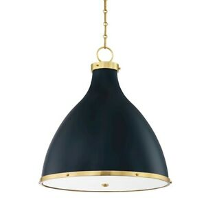 Hudson Valley Painted No. 3, 3 Light Large Pendant, Brass/Blue - MDS362-AGB-DBL