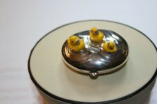 Genuine Links of London Sterling Silver Child's Yellow Duck Keepsake Trinket box