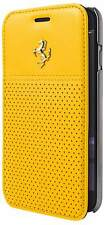 Ferrari GTB Gold Logo Yellow Leather Booktype Case for iPhone 6 / 6s 4.7