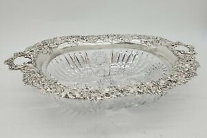 Rare Redlich Sterling Silver &  Cut Glass Bowl