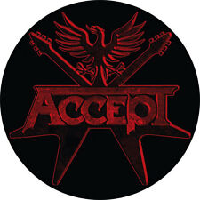 CHAPA/BADGE ACCEPT . pin button heavy metal duo rose tattoo motley true wasp