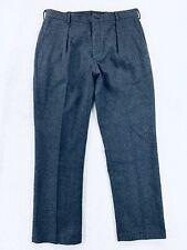 Vtg Polo Ralph Lauren Mens Black Charcoal Wool Trousers Pants Mens Size 37/38x32