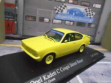 OPEL Kadett C Coupe GT/E Sport tuning Street Racer neon gelb Minichamps RAR 1:43