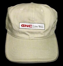 GNC Live Well Ivory Colored with Dark Trim Cap Hat