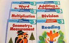 KUMON Workbooks Grade 3 Set: Math + Reading  (6 books) --FREE Shipping