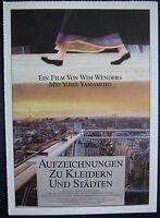 Filmplakatkarte cinema  Aufzeichnungen zu Kleidern und Städten  Wim Wenders