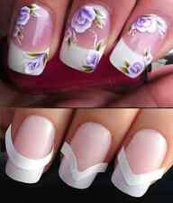 NAIL ART WATER STICKERS TRANSFERS DECALS FLOWER & FREE FRENCH TIP GUIDES #9 #172