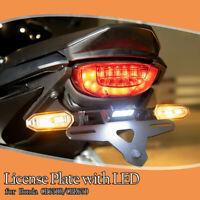 License Plate Holder Bracket Fender w/ LED For 2019-2020 Honda CB650R CBR650R