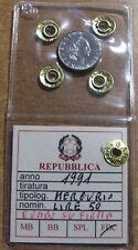REPUBBLICA ITALIANA - LIRE 50 DEL 1991 CON ROMBO SU FIRMA INCISORE
