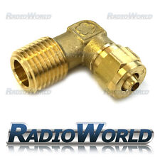 "1/4"" BSP to 6mm Brass Compression Fitting Elbow 90 Degree / Air Suspension"