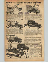 1956 PAPER AD Buddy L Structo Ride Em Toys Steam Shovel Digger Howitzer Cannon