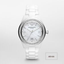 Emporio Armani White Ceramica Mother of Pearl Dial Women's Watch AR1426