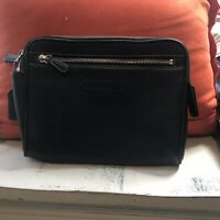 Vintage Coach Leatherware Black Zip Clutch 9x7x2 Rare!  Beautiful Soft leather