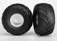 Traxxas TRA3663 Monster Jam Replica Pre-Mounted Rear Tires (2) (Silver)