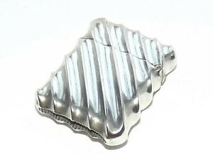VICTORIAN WRYTHEN SOLID SILVER STERLING VESTA CASE NATHAN & HAYES, LONDON 1888