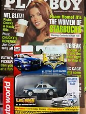 Auto World flame thrower, new condition still factory banded and Playboy Mag.
