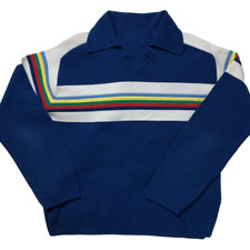 Vintage | Men's | 70s Rainbow Colored Sweater | Jumper | Tags Have Been Removed