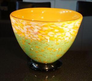 A Stunning Signature Murano Multi Coloured Large Heavy Centerpiece Bowl