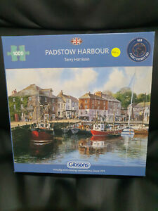 Gibsons G476 Padstow Harbour by Terry Harrison 1000 pce jigsaw puzzle