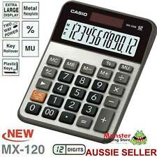 AUSSIE SELLER CASIO DESK CALCULATOR 12 DIGIT MX120B MX-120B EXTRA LARGE DISPLAY