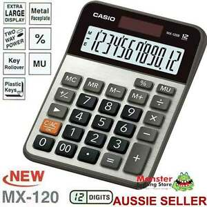 CASIO DESK CALCULATOR 12 DIGIT MX120B MX-120B EXTRA LARGE DISPLAY AUSSIE SELLER