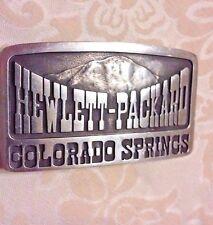 Hewlett-Packard Colorado Springs Belt Buckle ~ Very Rare!