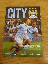 03/04/2016 Manchester City Women v West Bromwich Albion Sport Club Ladies [FA Wo