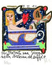 FRANCESCO MUSANTE HO TROVATO UNA SIRENA NELLA TAZZINA DEL CAFFÈ serigrafia