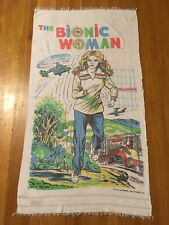The Bionic Woman 1976 Vintage Beach Towel 6 Million Dollar Man VERY RARE FIND!