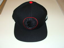 Toronto Raptors Cap Hat Snapback Basketball Adidas Black Red OSFM NBA New Logo