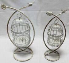 Metal Bird Cages on Stand Set of 2 Indoor Outdoor Weddings Garden Ornament