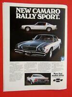 1975 Chevrolet Camaro Rally Sport Original Print Ad-8.5 x 11