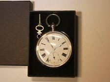 Beautiful Antique Birmingham Hallmarked Silver Open Face Pocket Watch Dated 1886