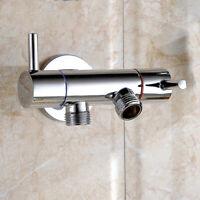 3-Way Brass Ball Valve Diverter Adapter Toilet Drain Hand Shower Head
