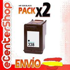 2 Cartuchos Tinta Negra / Negro HP 338 Reman HP Photosmart C3100 Series