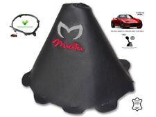 Gear Stick Gaiter For Mazda MX5 Roadster ND 2014-18 Red Logo + Frame