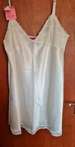 BNWT Janet Reger, for Debenhams, cream satin nightdress chemise, size 20 rrp £22