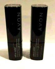Lot of 2 AVON TRUE COLOR Ultra Color Lipstick ~BRONZE TREASURE Shea Butter Brown