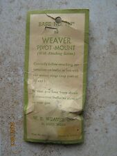 NOS Weaver Winchester Ruger Enfield Sears Cooey Rifle Pivot Scope Rear Base 147