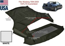 Ford Mustang Convertible Top & Non-Heated Glass Window WHITE Sailcloth 1994-04