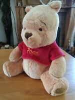 """Winnie The Pooh Disney Store Soft Toy Plush Teddy Stamped 10"""" Official Vintage"""